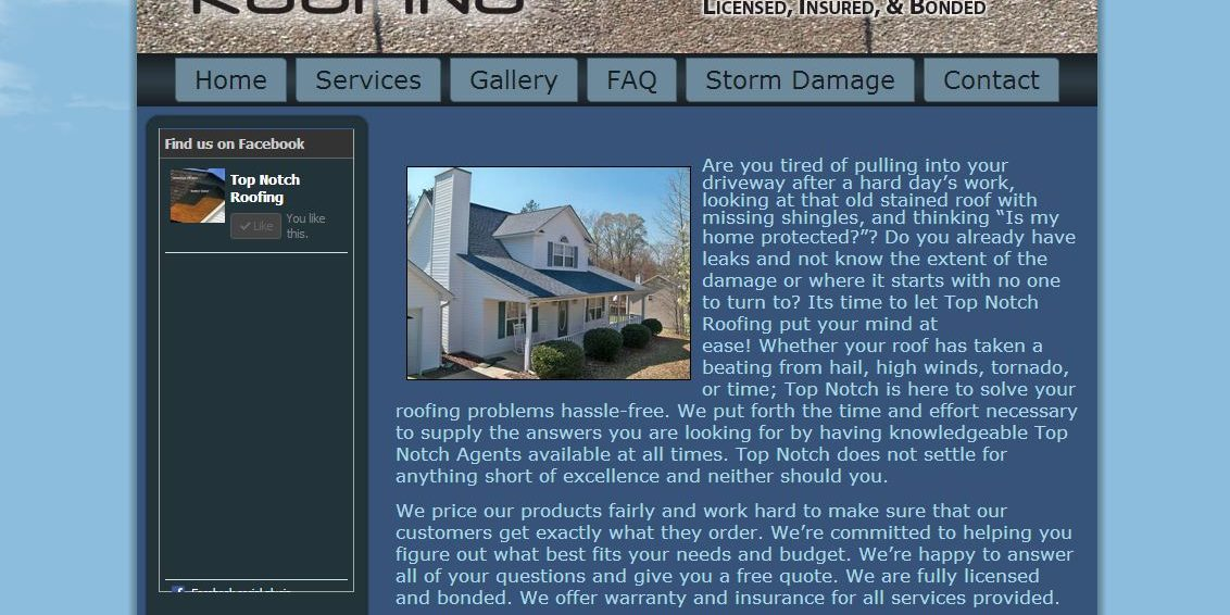 Top Notch Roofing Local Service Web Design 678pc