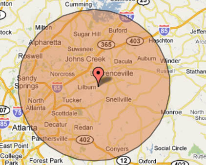 PC Gwinnett Web Design Computer Repair - Georgia map duluth